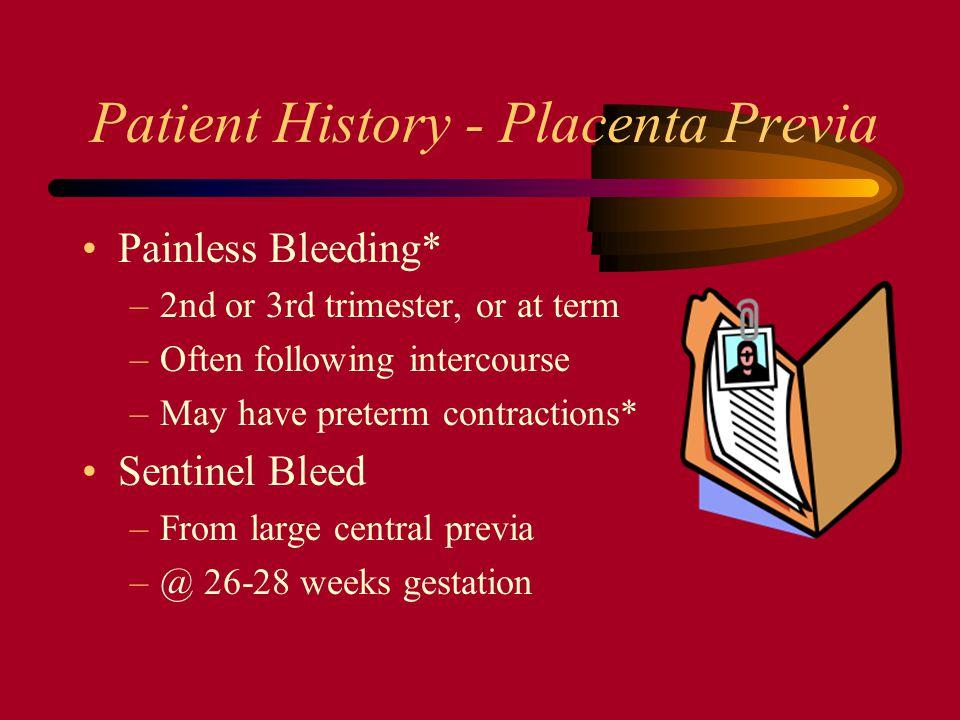 Patient History - Placenta Previa