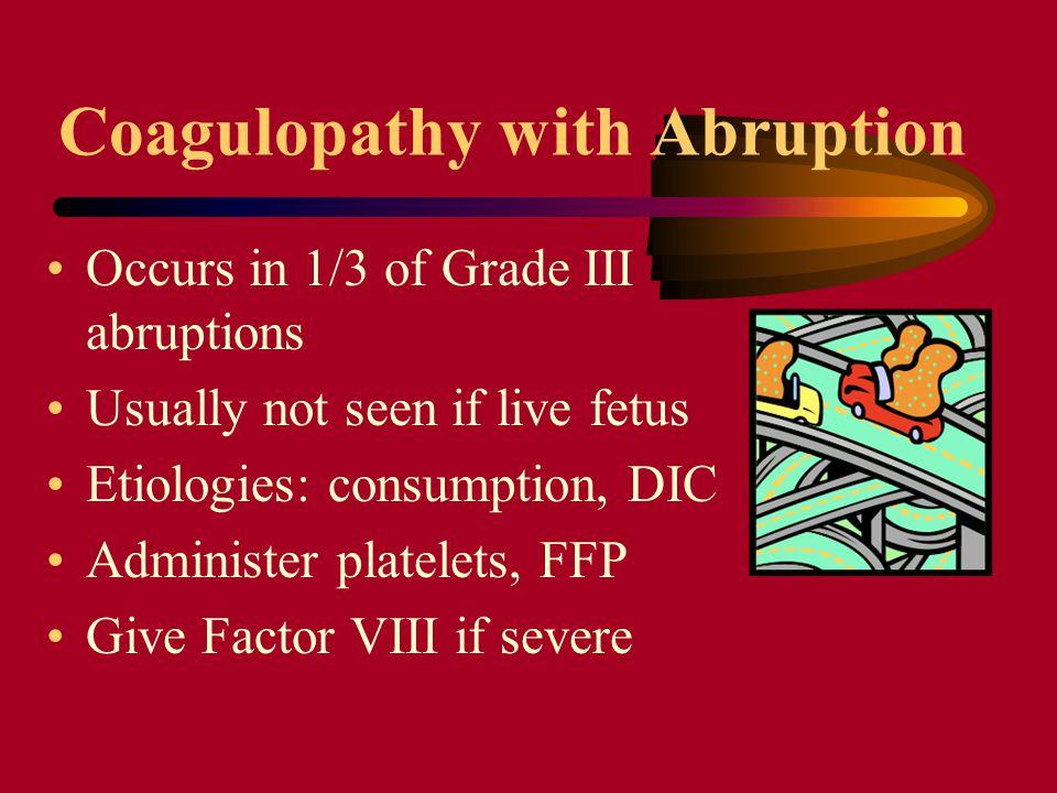Coagulopathy with Abruption