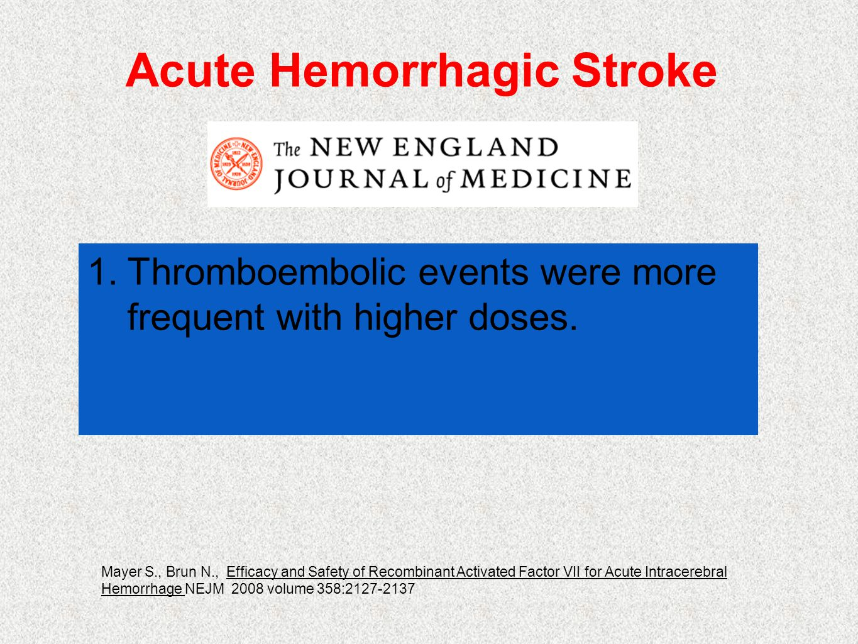 Acute Hemorrhagic Stroke