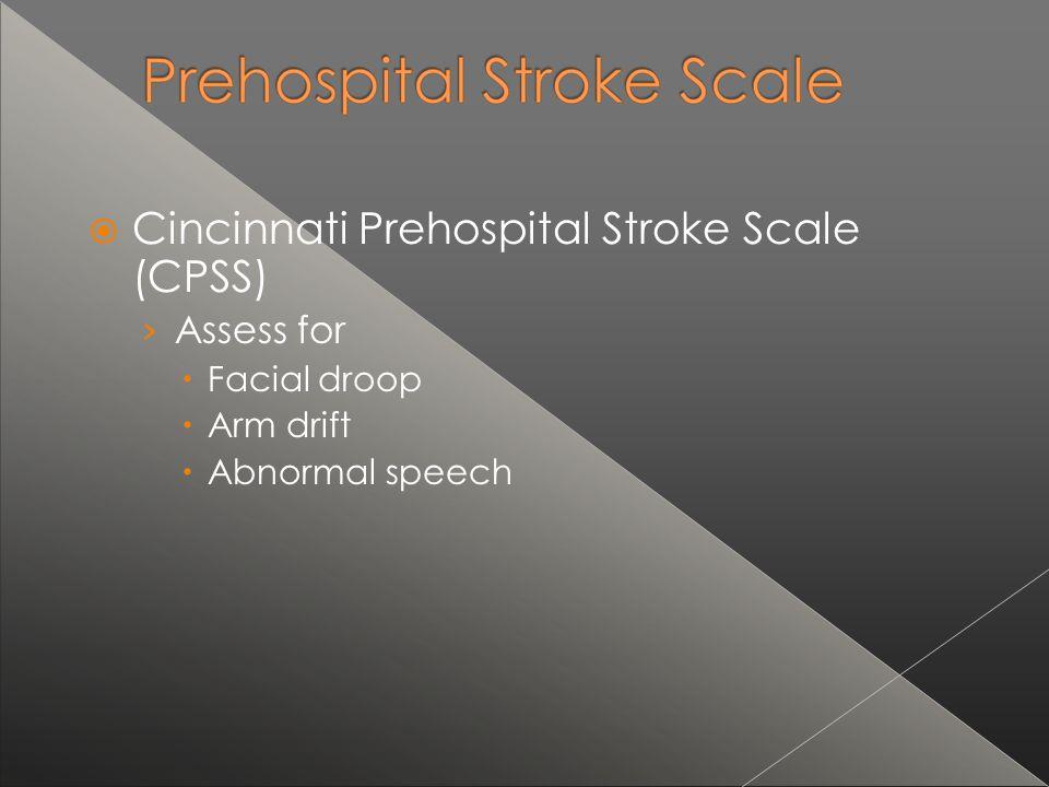 Cincinnati Prehospital Stroke Scale (CPSS)