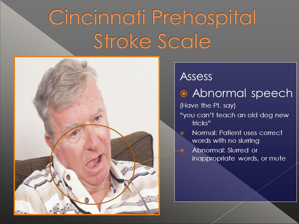 Assess Abnormal speech (Have the Pt. say)