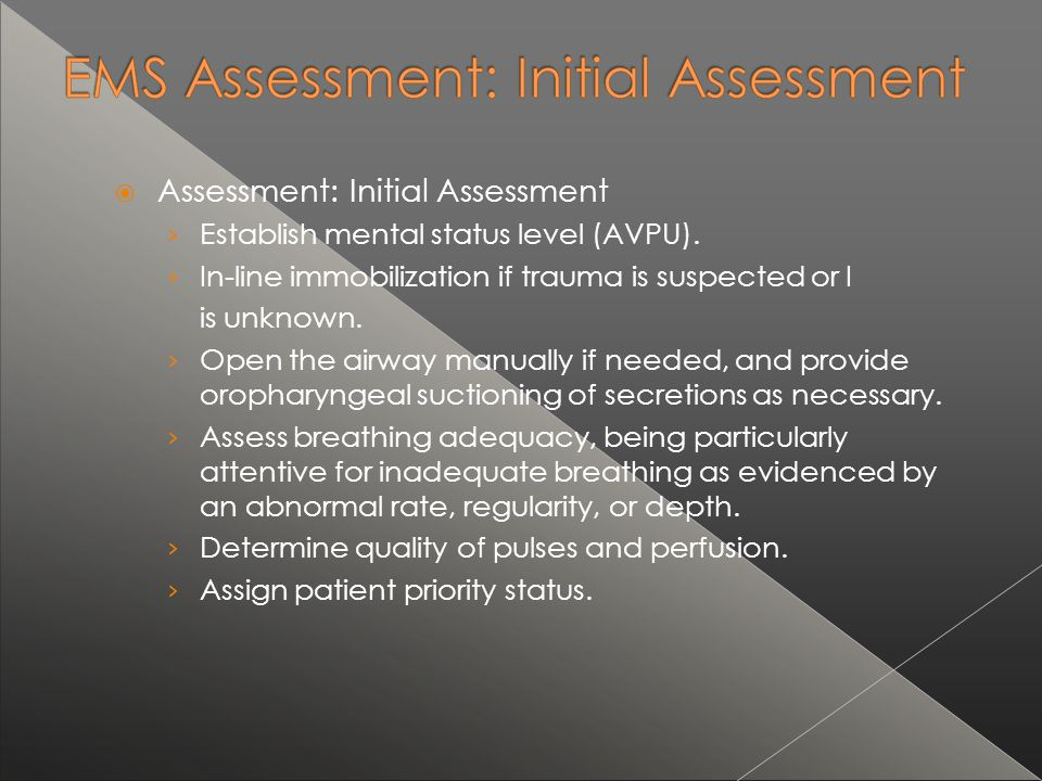 Assessment: Initial Assessment