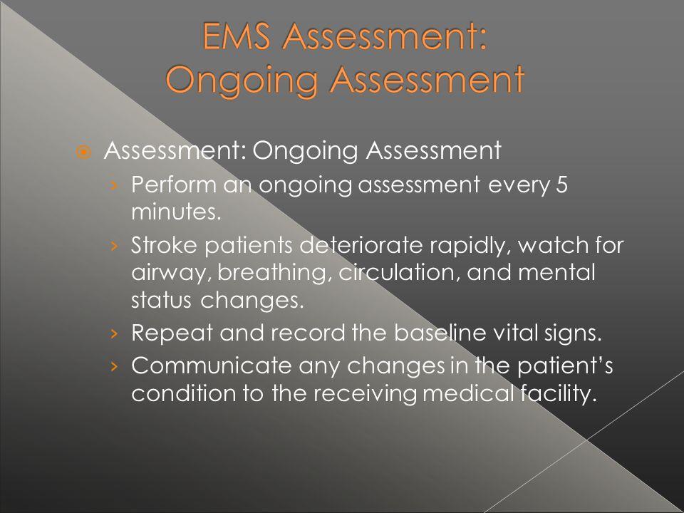 Assessment: Ongoing Assessment