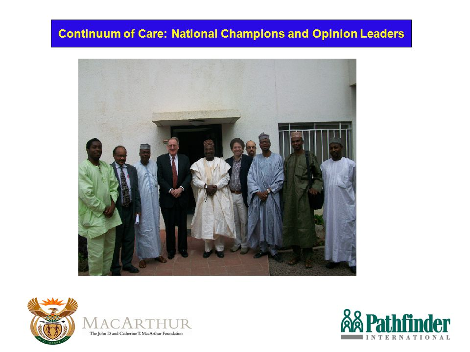 Continuum of Care: National Champions and Opinion Leaders