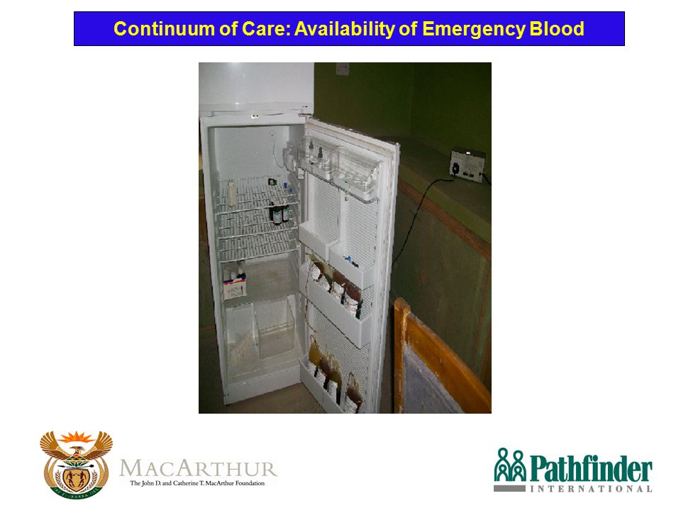 Continuum of Care: Availability of Emergency Blood