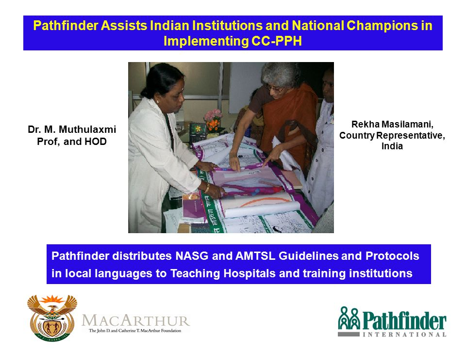 Pathfinder Assists Indian Institutions and National Champions in Implementing CC-PPH