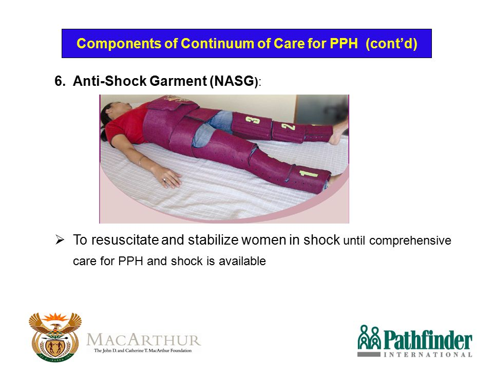 Components of Continuum of Care for PPH (cont'd)