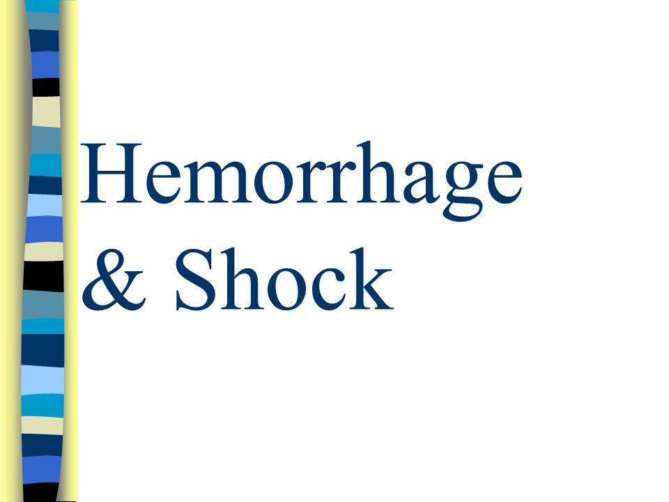 Hemorrhage & Shock
