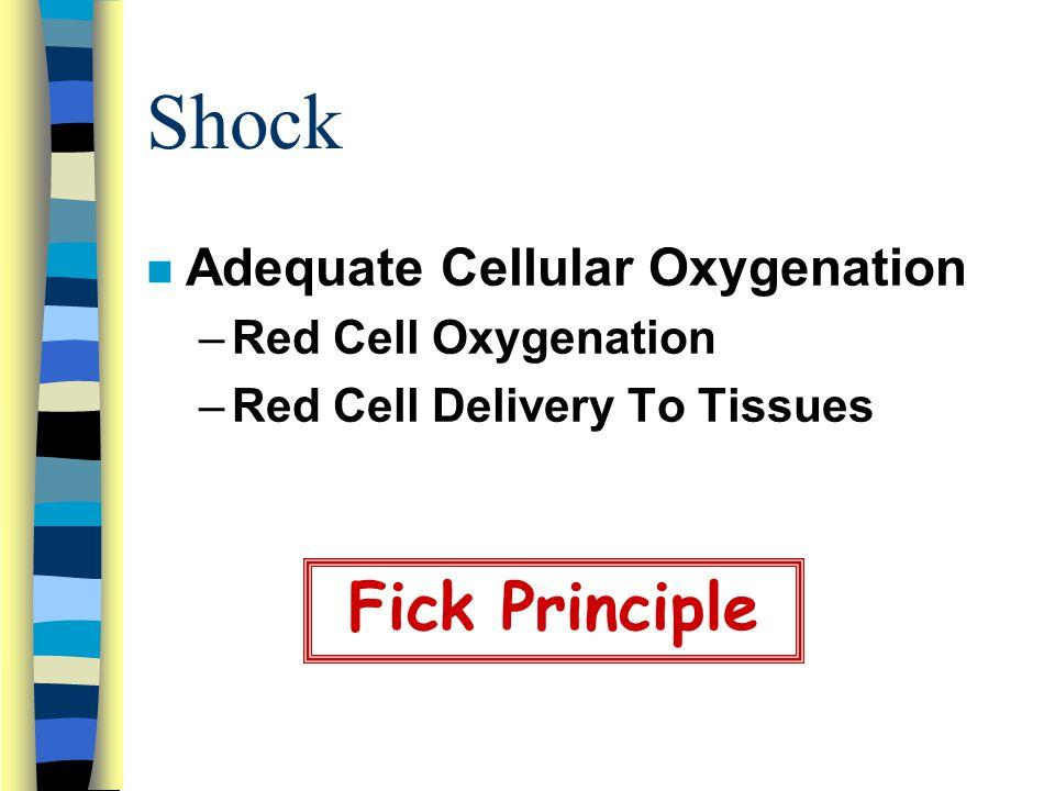 Shock Fick Principle Adequate Cellular Oxygenation