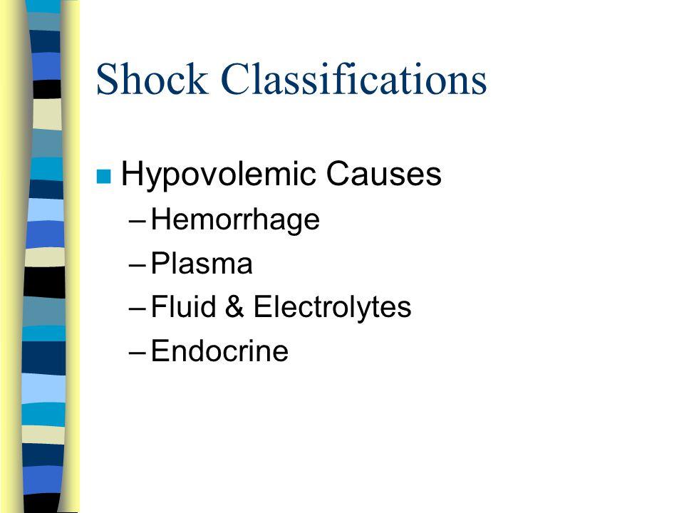 Shock Classifications