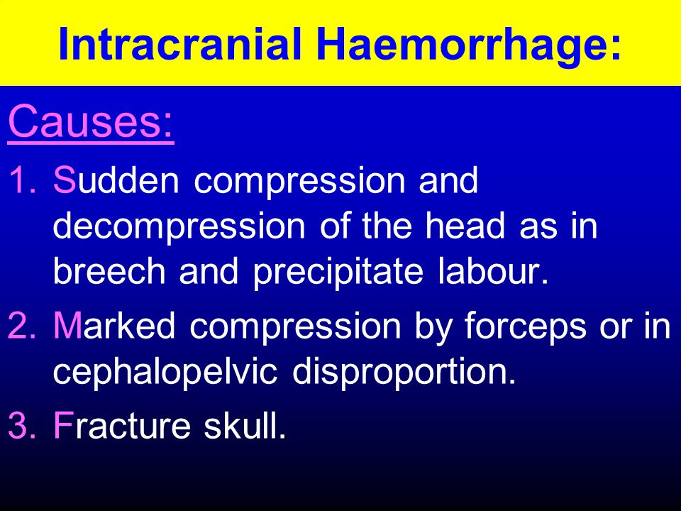 Intracranial Haemorrhage: