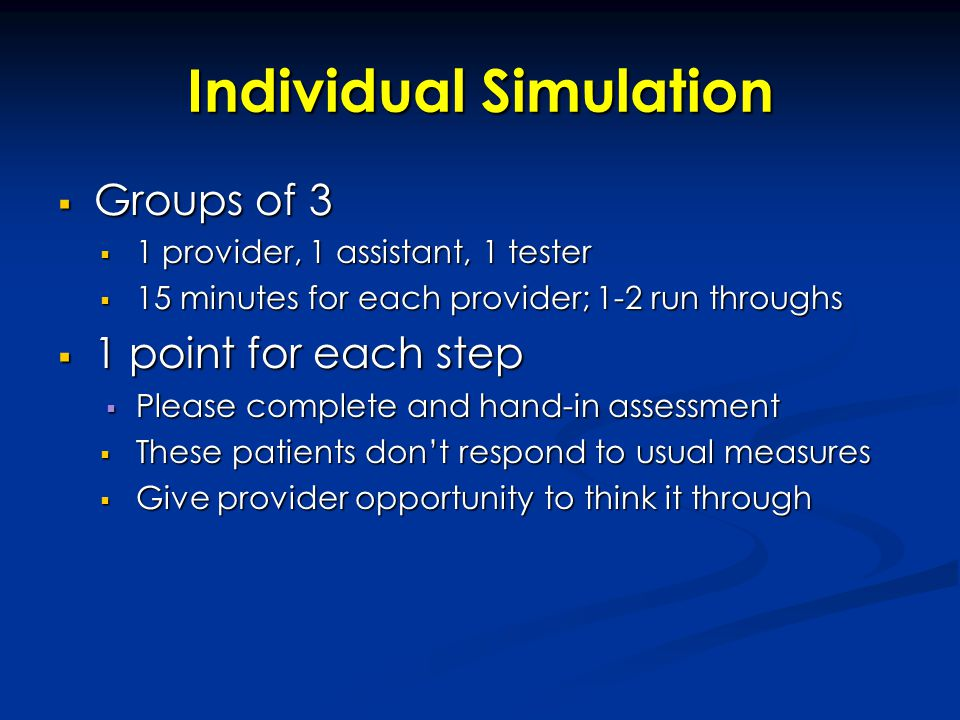 Individual Simulation