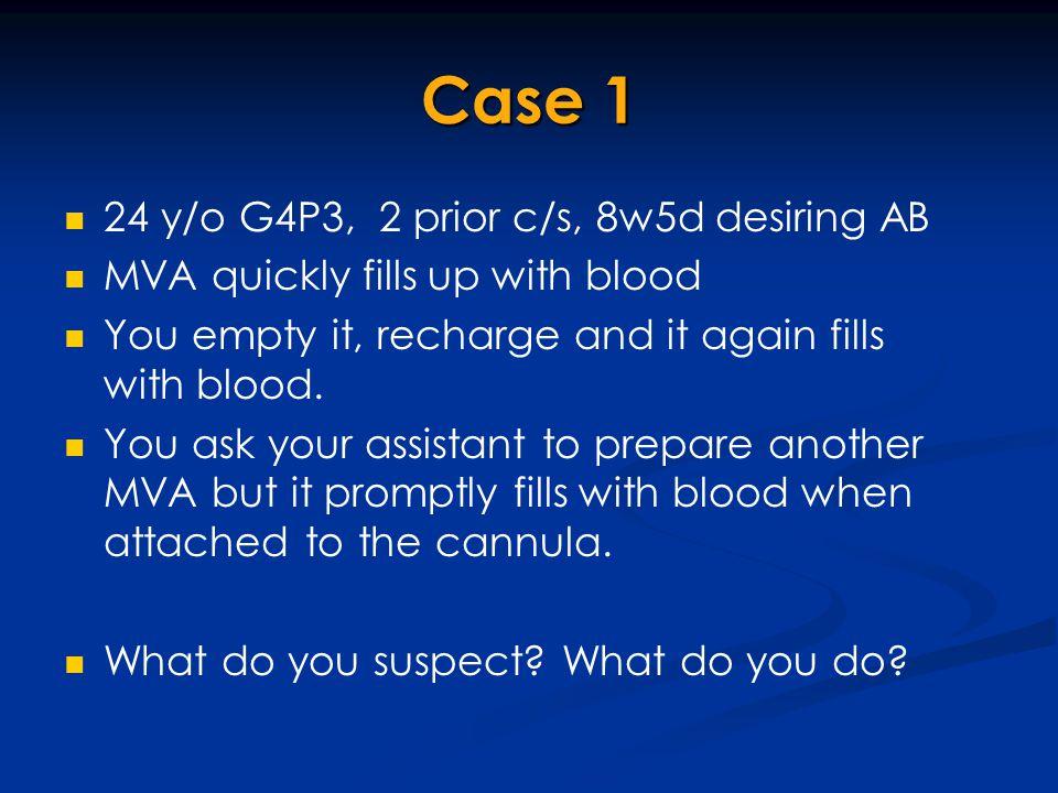 Case 1 24 y/o G4P3, 2 prior c/s, 8w5d desiring AB