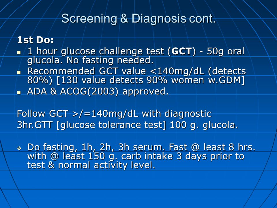 Screening & Diagnosis cont.