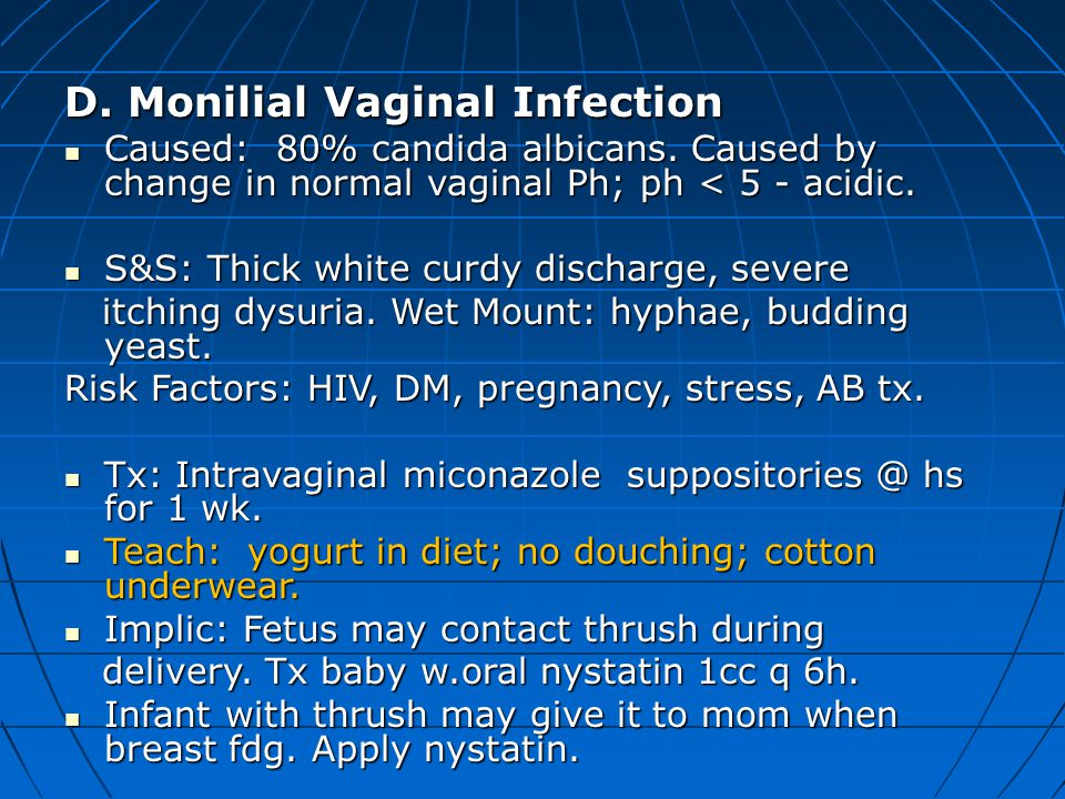 D. Monilial Vaginal Infection