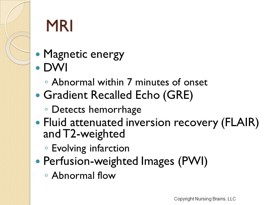 MRI Magnetic energy DWI Gradient Recalled Echo (GRE)