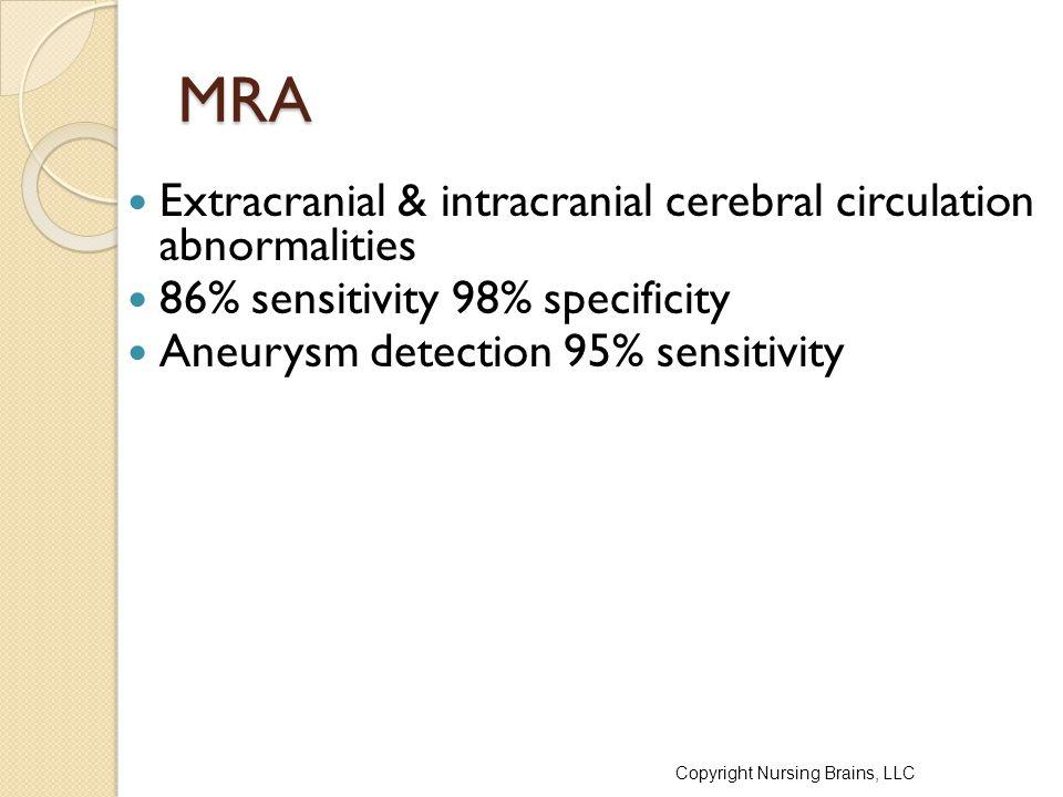 MRA Extracranial & intracranial cerebral circulation abnormalities
