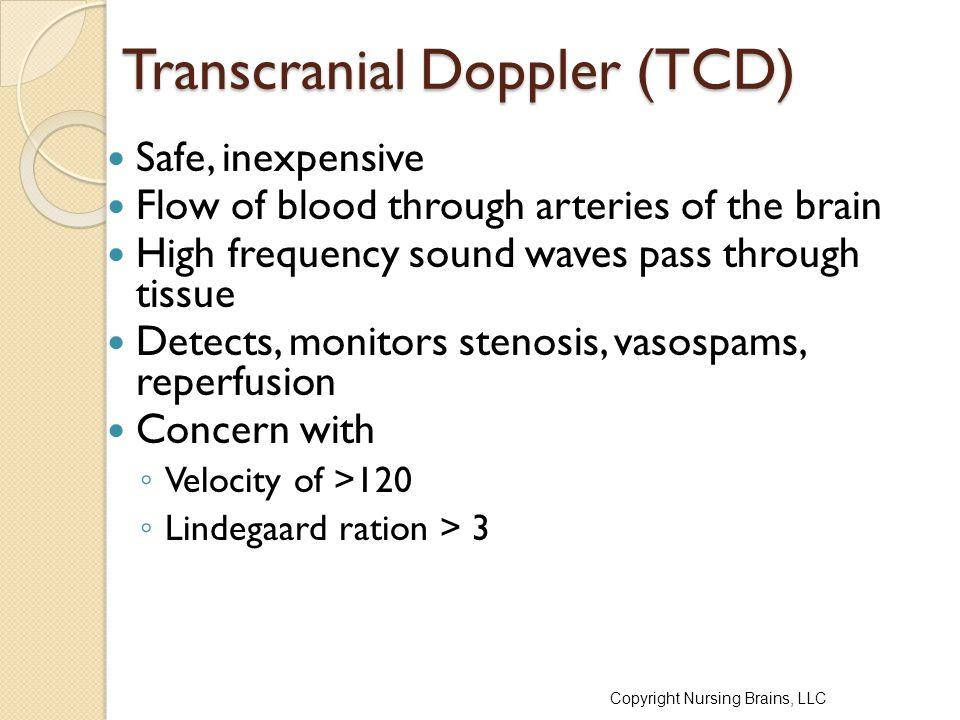 Transcranial Doppler (TCD)