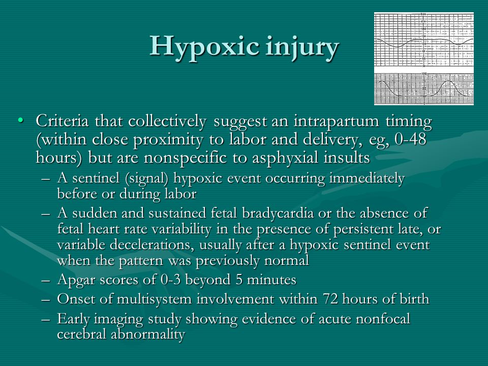 Hypoxic injury
