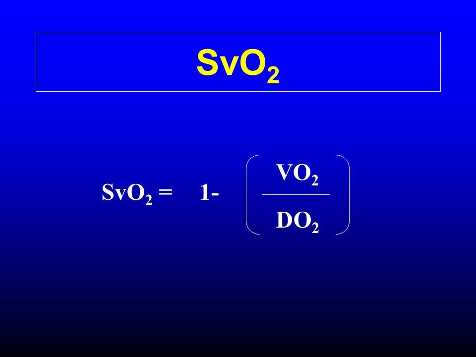 SvO2 VO2 SvO2 = 1- DO2