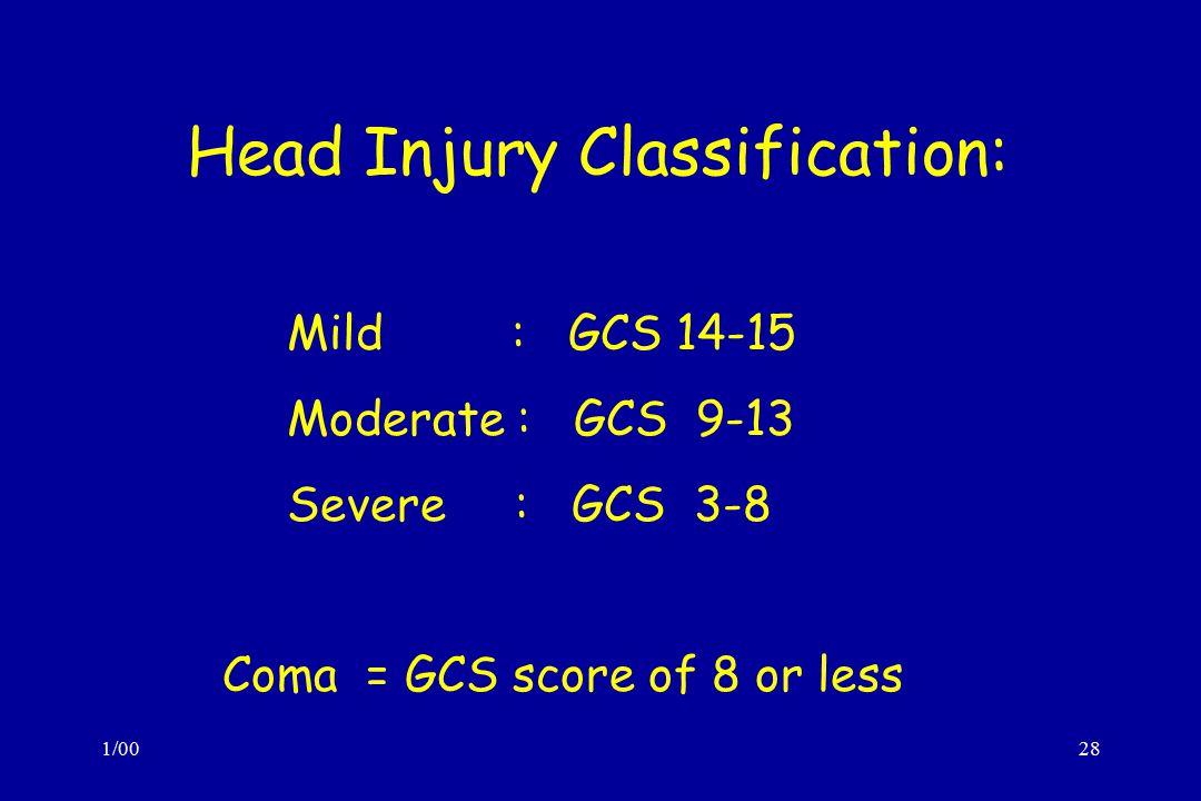 Head Injury Classification: