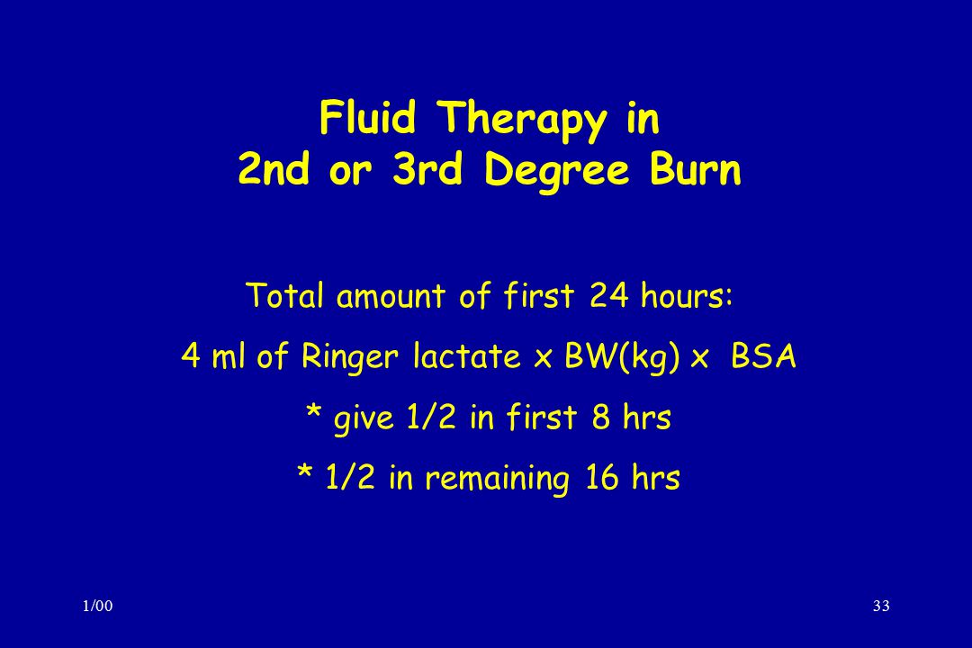 Fluid Therapy in 2nd or 3rd Degree Burn