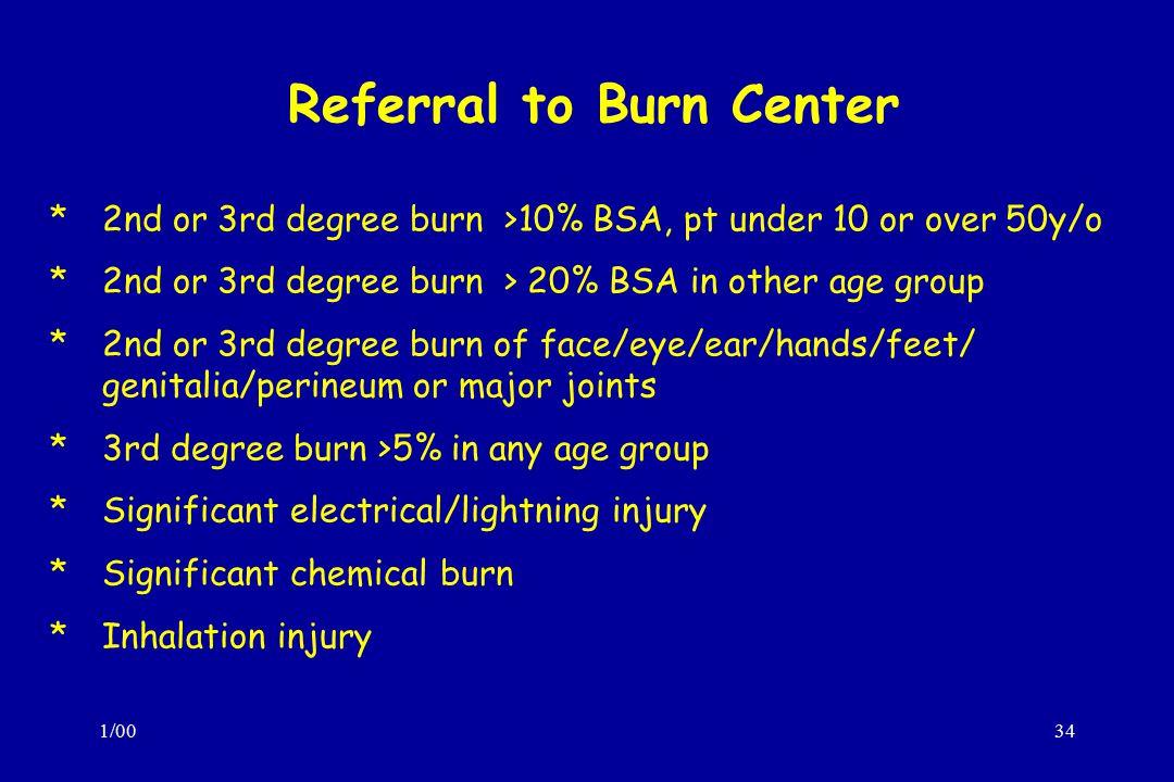 Referral to Burn Center
