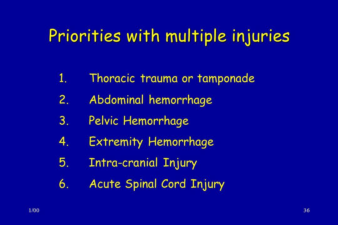 Priorities with multiple injuries
