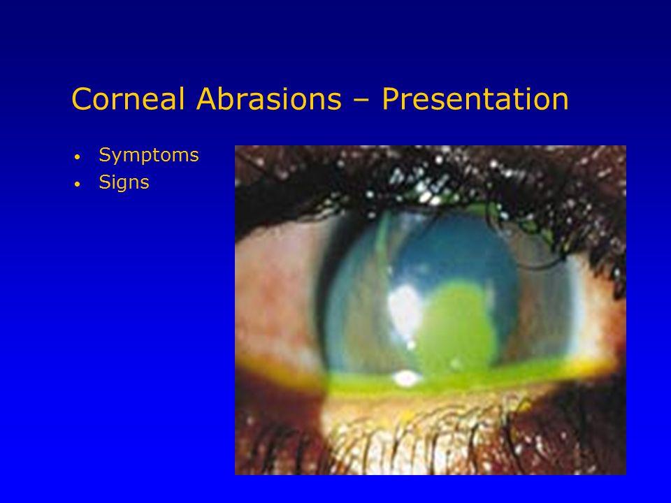 Corneal Abrasions – Presentation