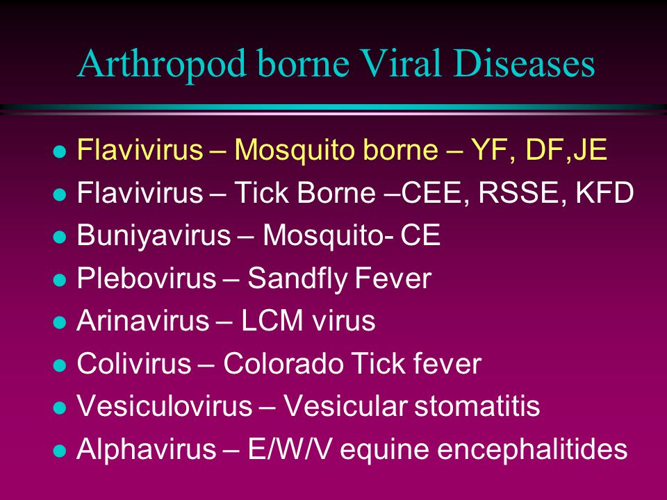 Arthropod borne Viral Diseases