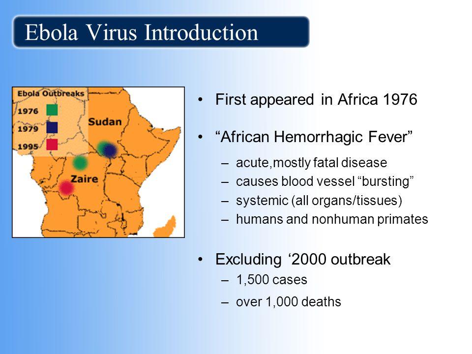 Ebola Virus Introduction