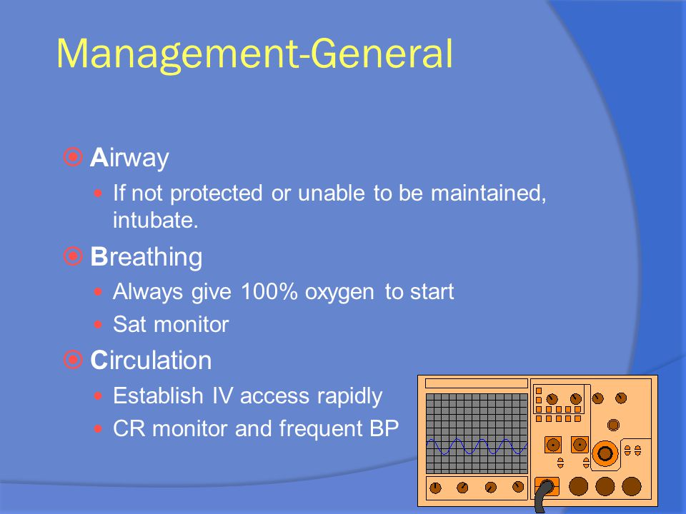 Management-General Airway Breathing Circulation