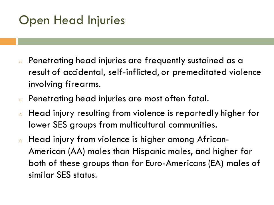 Open Head Injuries