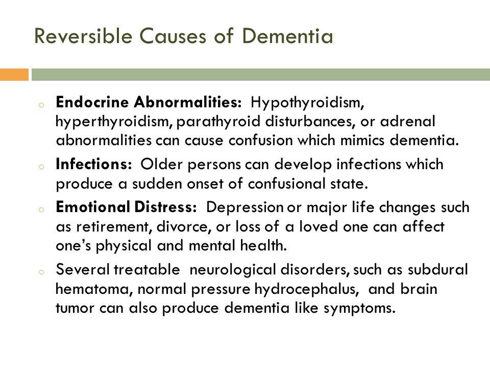 Reversible Causes of Dementia
