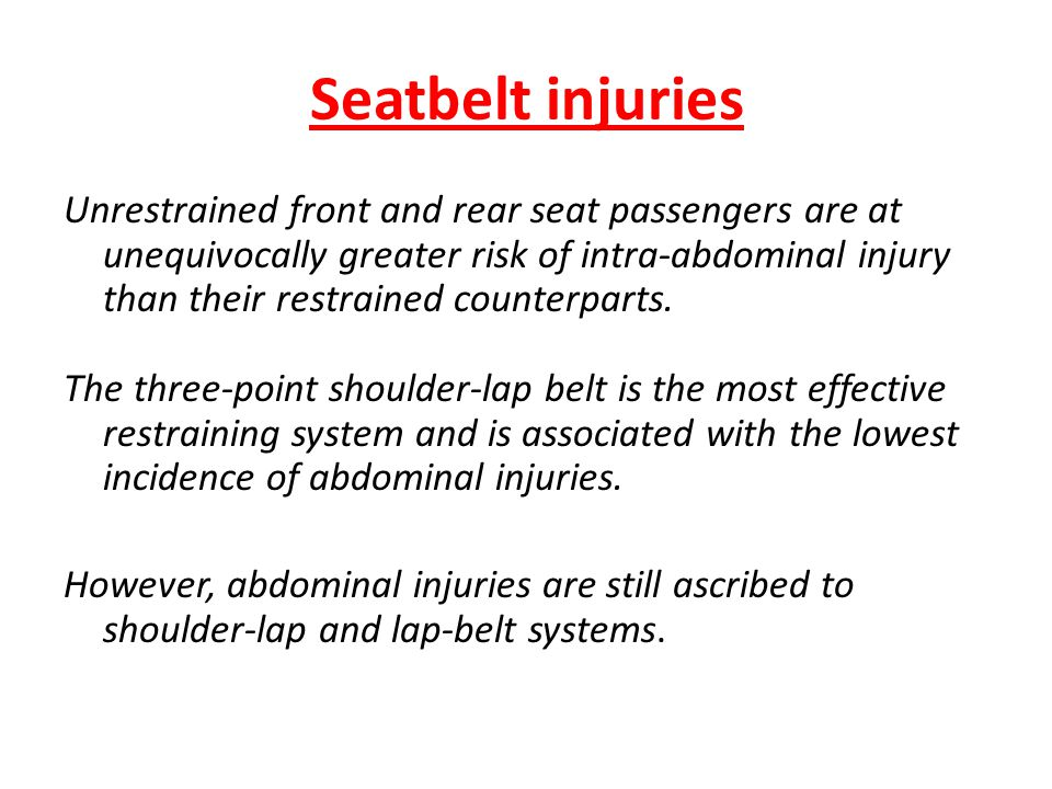 Seatbelt injuries