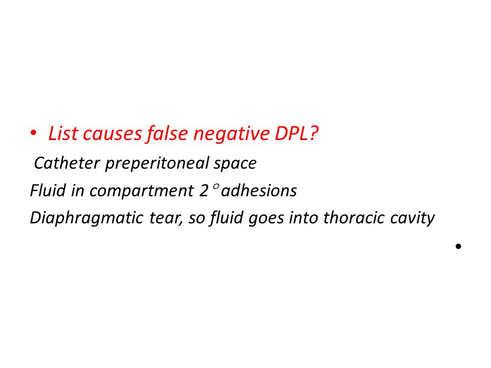 List causes false negative DPL