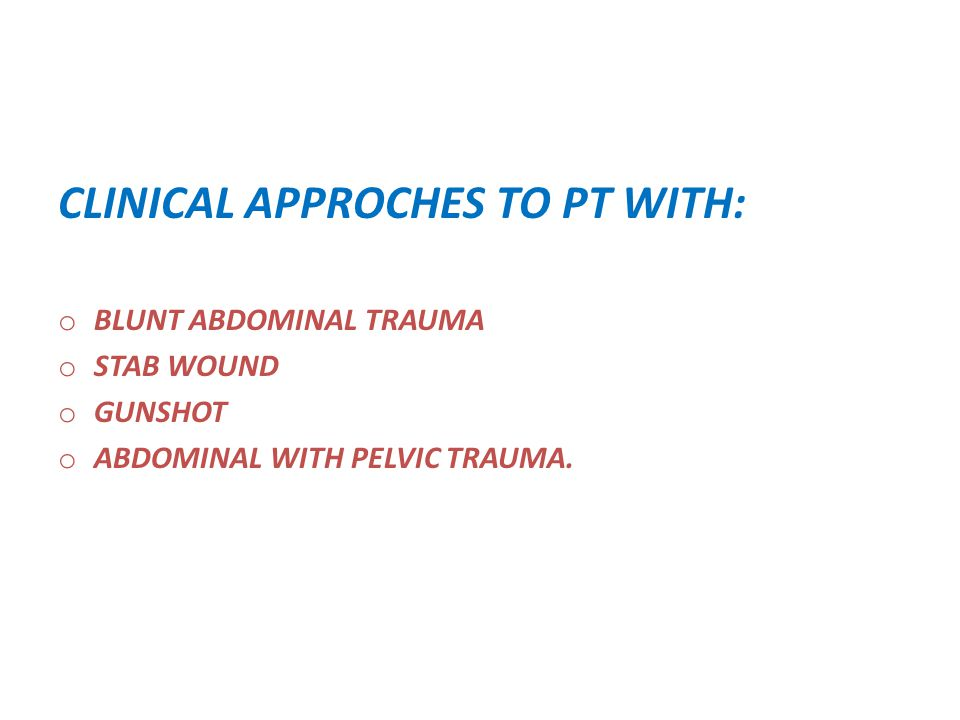 CLINICAL APPROCHES TO PT WITH: