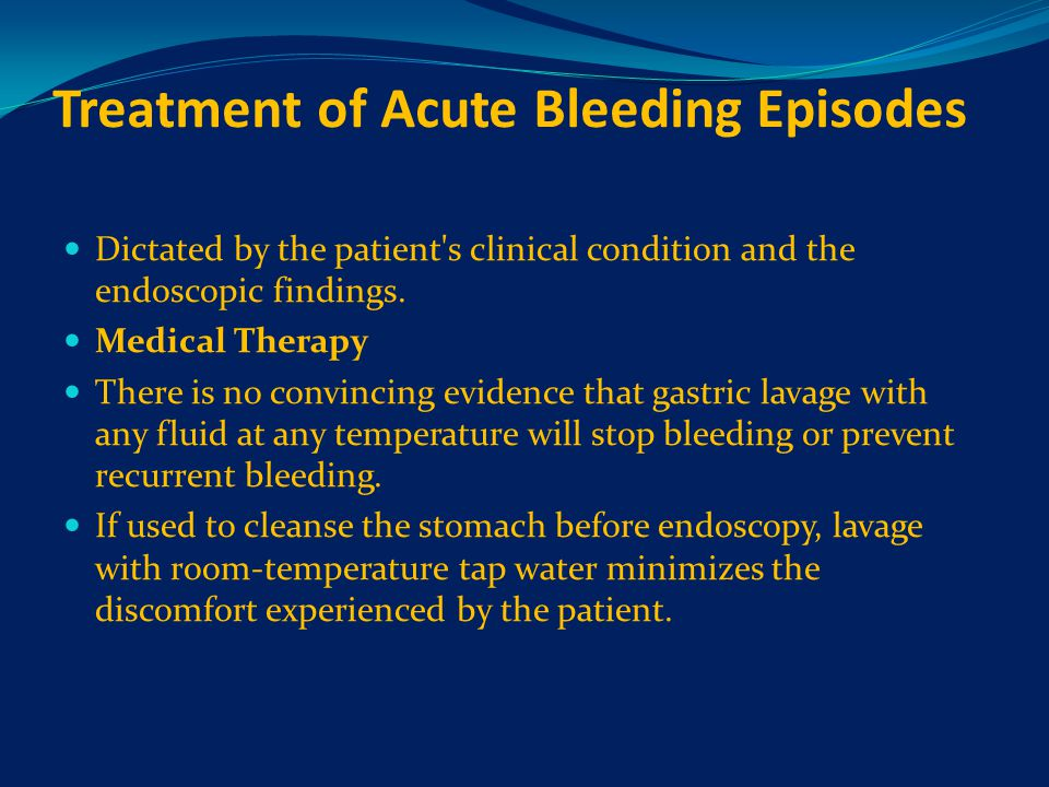 Treatment of Acute Bleeding Episodes