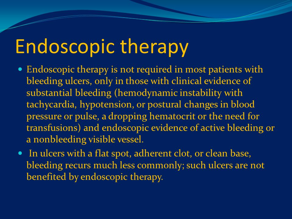 Endoscopic therapy
