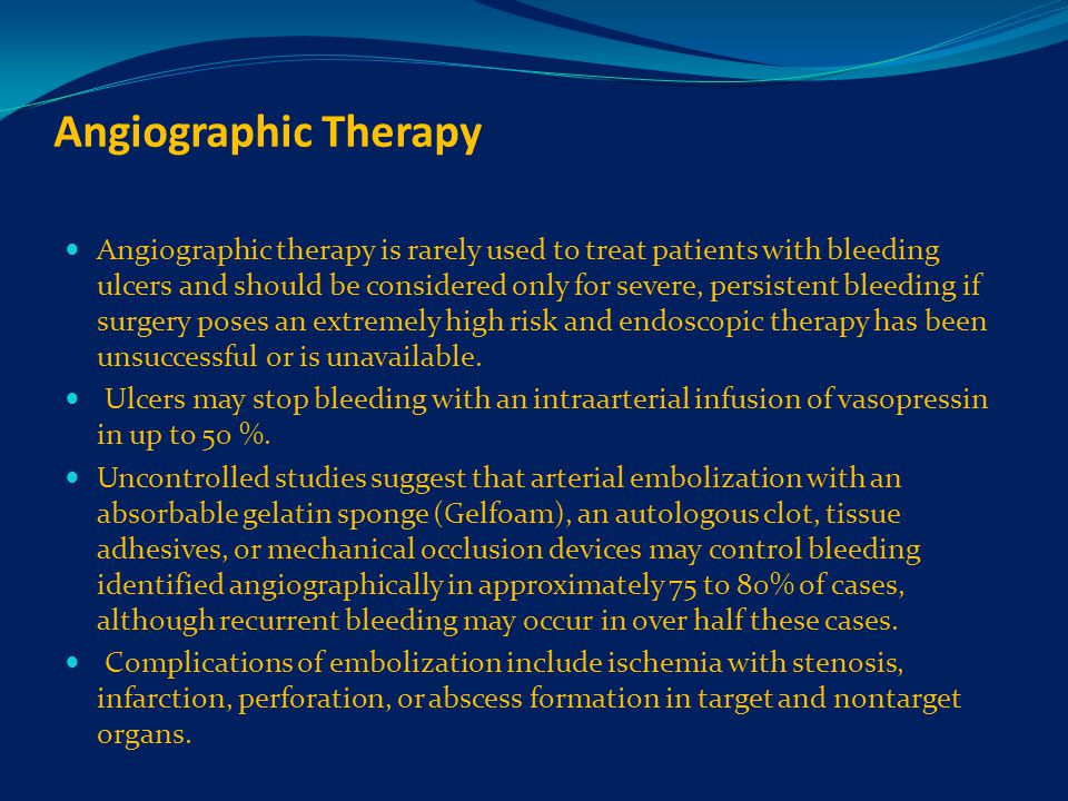 Angiographic Therapy