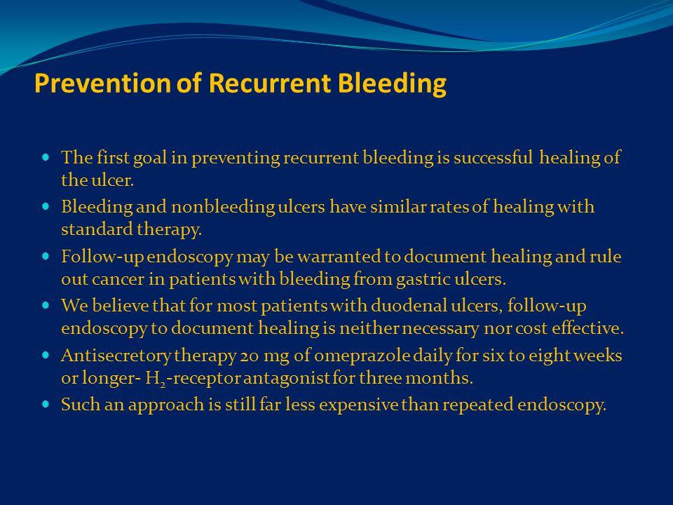 Prevention of Recurrent Bleeding
