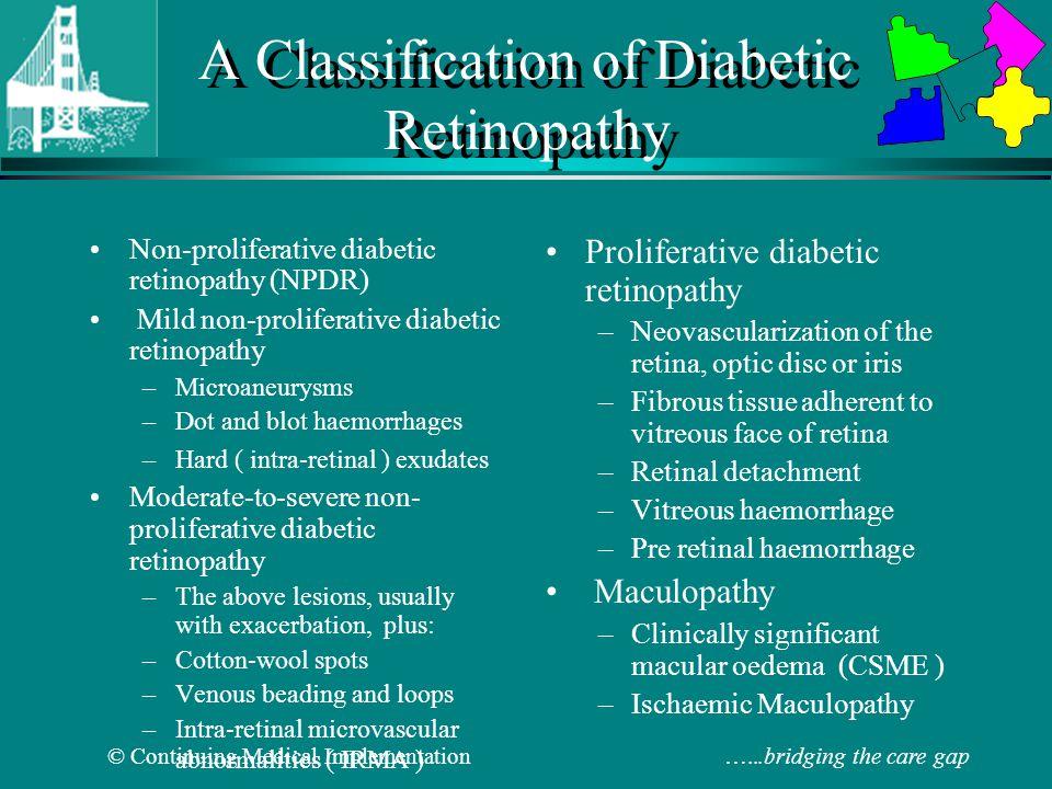 A Classification of Diabetic Retinopathy
