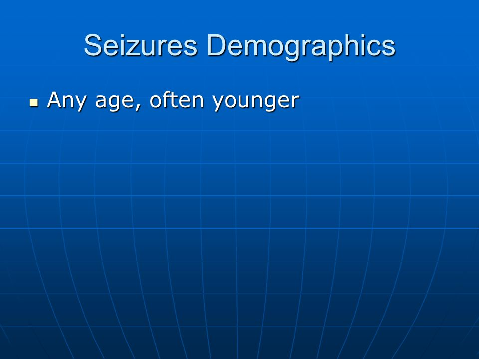 Seizures Demographics