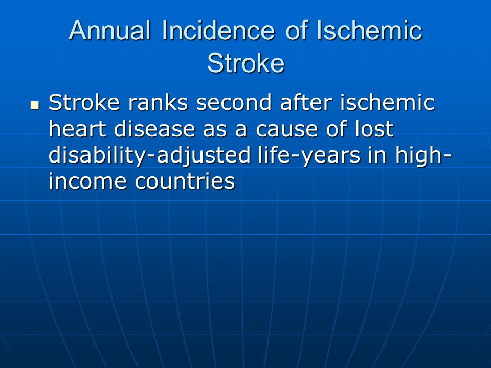 Annual Incidence of Ischemic Stroke
