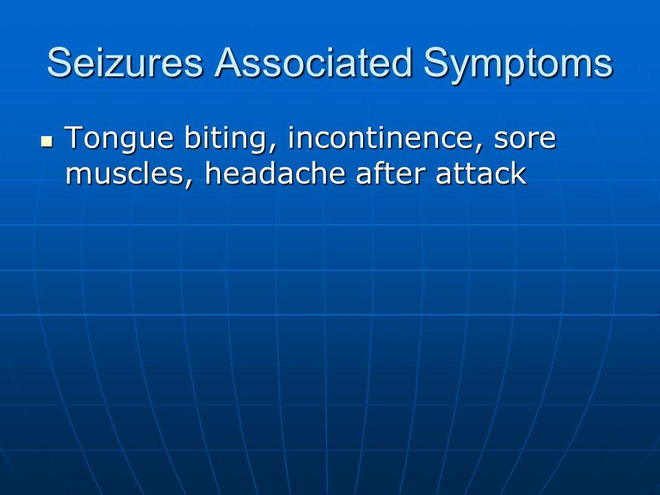 Seizures Associated Symptoms