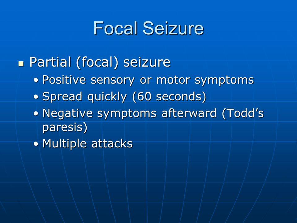 Focal Seizure Partial (focal) seizure