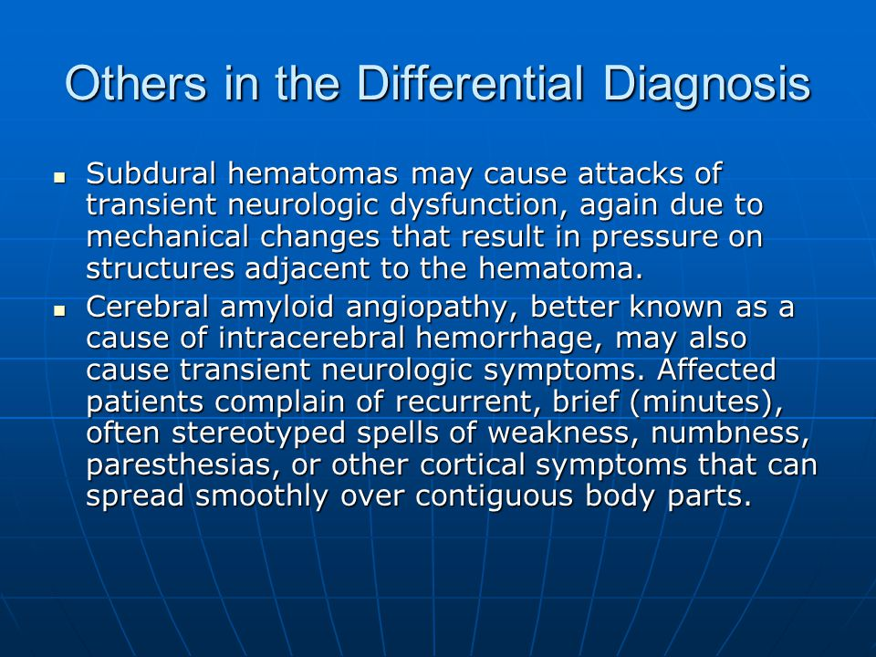 Others in the Differential Diagnosis