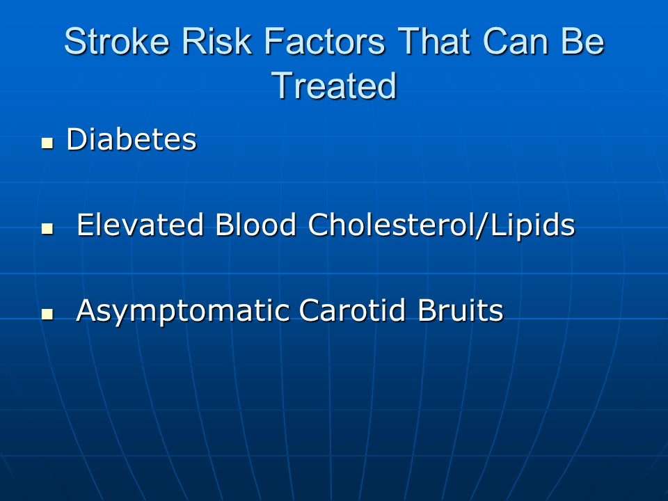 Stroke Risk Factors That Can Be Treated