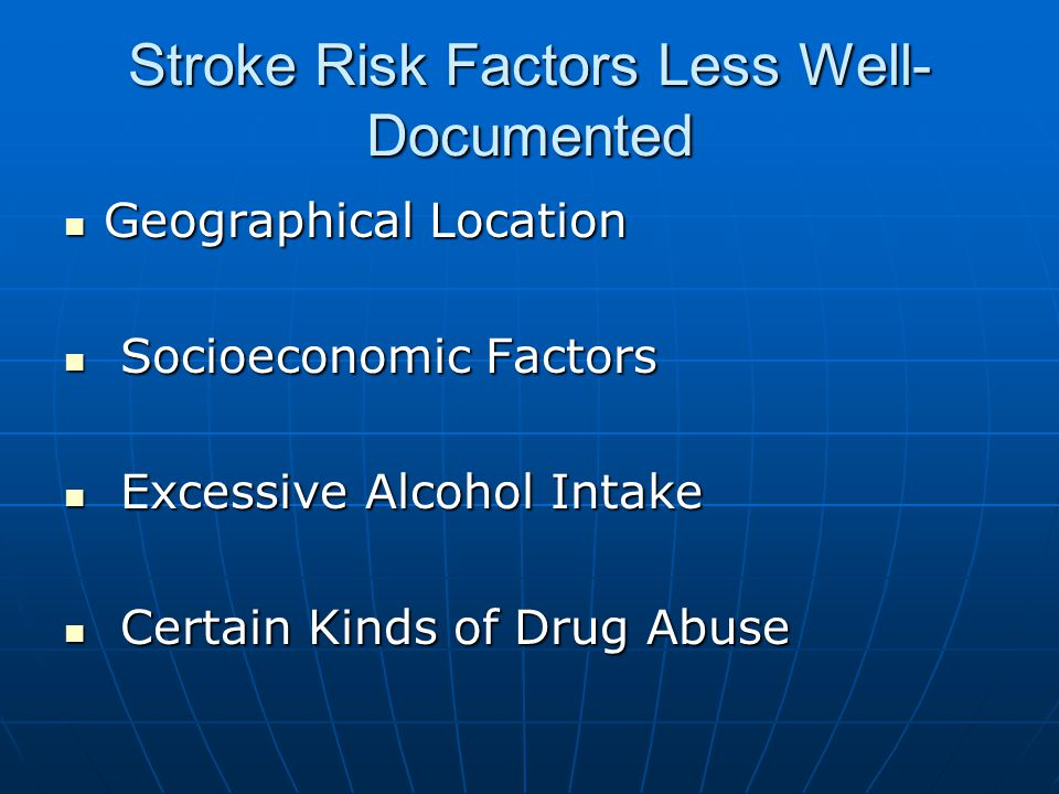 Stroke Risk Factors Less Well-Documented