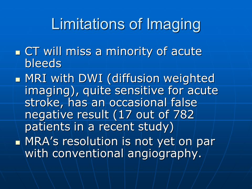 Limitations of Imaging